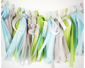 Tassel garland with banner