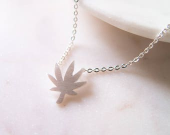 WEED // silver | Necklace - FREE SHIPPING