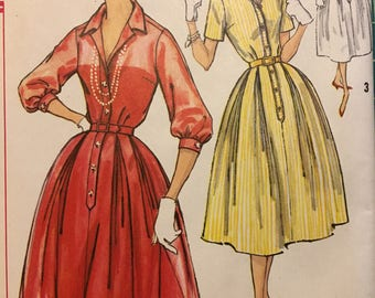 Vintage 1960s Sewing Pattern - Simplicity 2412 - Dress