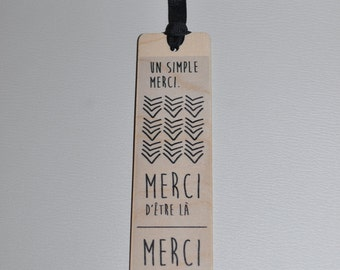 Bookmark wooden - thank you