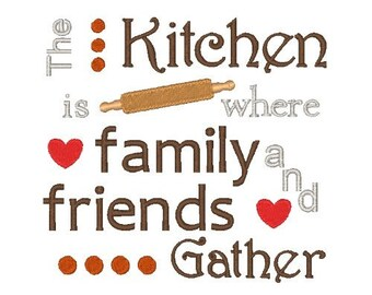 Family and Friends Embroidery Design Embroidery Designs Kitchen Family Embroidery 4X4 5X7 6X10 8X8 Instant Download