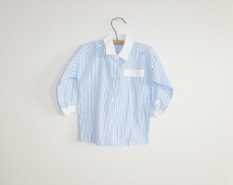 Vintage Blue and White Stripe Shirt
