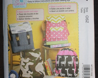 McCalls 7207   Learn To Sew   Backpacks for Beginners
