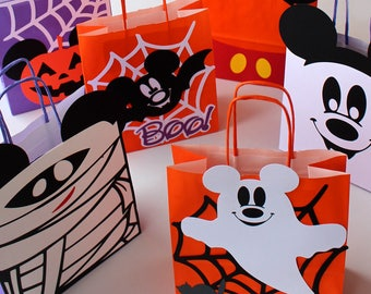 Mickey Halloween birthday party decorations for inspired Halloween Disney party Halloween Disney bags Halloween treat bag personalized Boxes