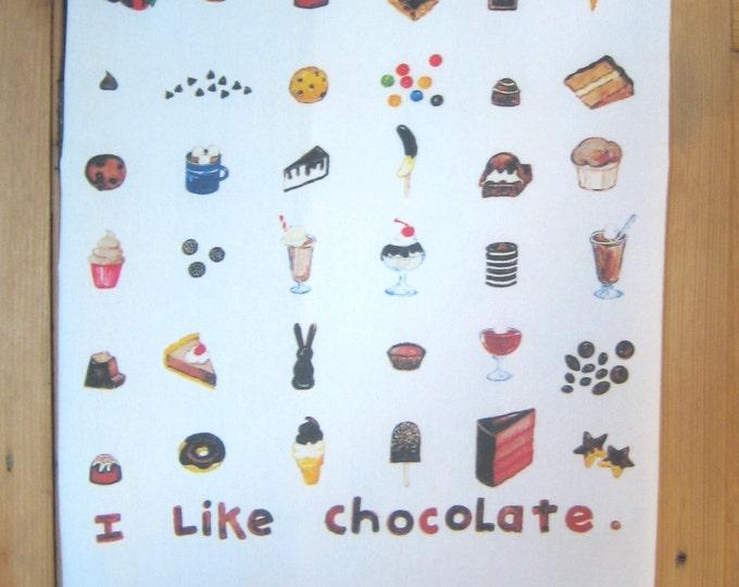 I Like Chocolate Kitchen Towel