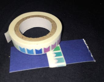 """20"""" cool colored flags/banner washi tape"""