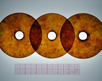 Composite Mica Circular disk with center hole  4 1/4in
