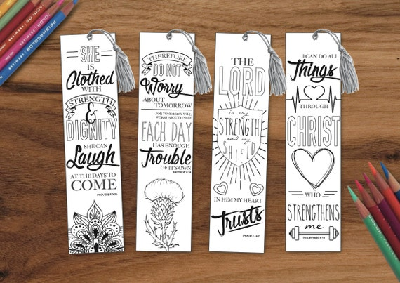 Coloring In Bible Bookmarks Journaling PRINTABLE