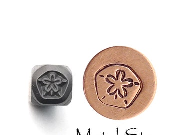 Sand Dollar - Metal Design Stamp - Make your own jewelry - Awesome Jewelry Making Tool made of hardened steel for use with soft metals