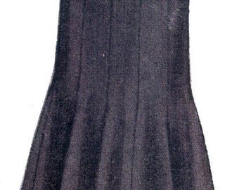 Vintage Sewing Pattern 1948 Skirt Pattern Gored Skirt,  Full Size Print Copy