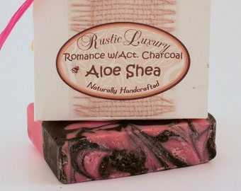 Aloe Shea Romance with Activated Charcoal Soap