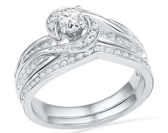 Bridal ring set Etsy