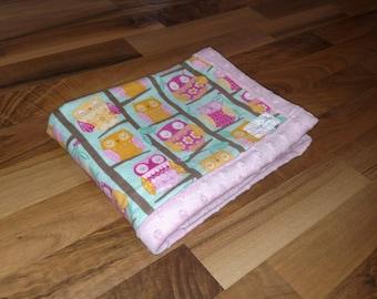 Owls Minky Baby Blanket