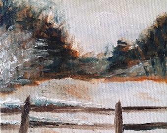 Winter Landscape oil painting