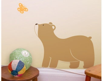 Bear Nursery Wall Decal, Woodland Wall Stickers Kids Room, Woodland  Wall Art Australian made