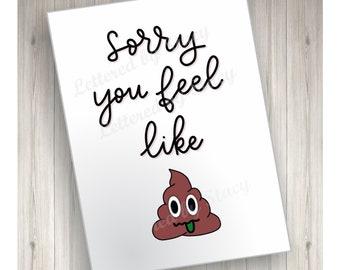 Emoji Get Well Soon Etsy