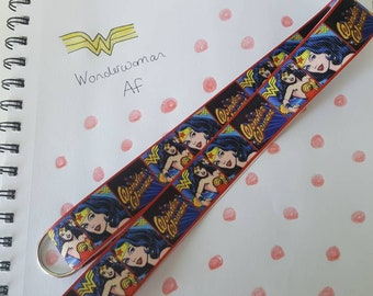 Wonderwoman lanyard ID card holder for school or work