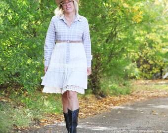 50% SALE upcycled dress . S - M upcycled clothing, eco friendly clothing