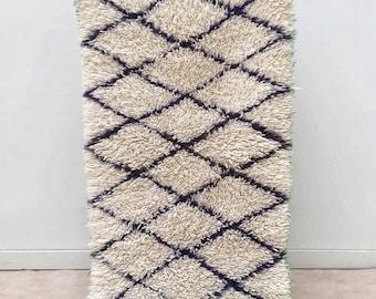 "Moroccan Boucherouite rug,""N86"",  Vintage rag rug, Berber rug, Moroccan decor, Beni rug, Beni ourain"
