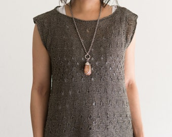 "Knitting Pattern (PDF): ""Double Espresso"" Tunic Top by DanDoh, Yumiko Alexander"