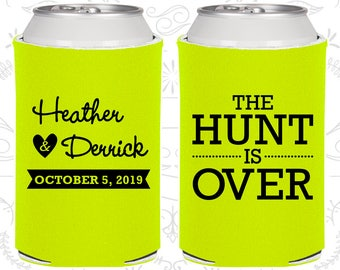 The Hunt is Over Wedding Gift, Wedding Party Gifts, Wedding Can Coolers (27)