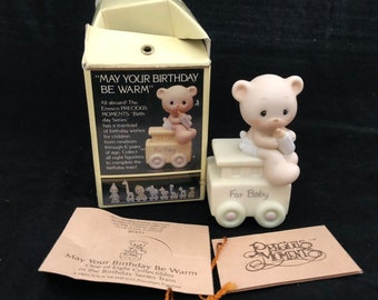 Precious Moments Birthday Series May Your Birthday Be Warm Figurine with Box