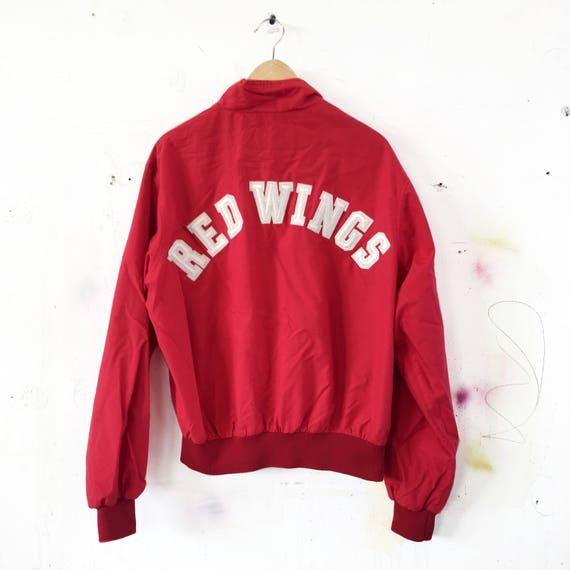 Vintage Detroit Red Wings Jacket - red wings - winter coat - winter - allover print - 90'S - Pro Player - NHL - hockey jacket - size XL pliHejTCrP