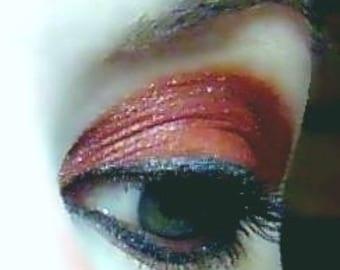Ruby Tuesday-Vegan-Lidschatten und Eyeliner Strumpfhose rötlich braun Mineral Make-up Rosenquarz Mineralien
