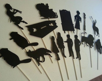 Handmade Narnia Shadow Puppets ~ Fantasy Puppets ~ Teaching Resource ~ Storytelling Tools ~ Fantasy ~ The Lion, The Witch, and the Wardrobe