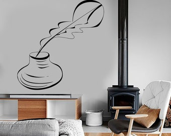 Wall Vinyl Decal Writer Writing Journalist Pen Ink Amazing Decor Bedroom 1370dz