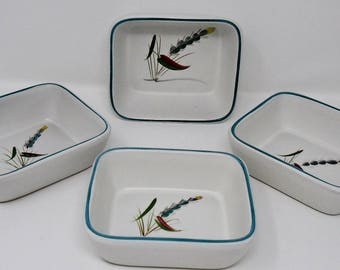 Denby Greenwheat Hors d'oeuvre Dishes set of four