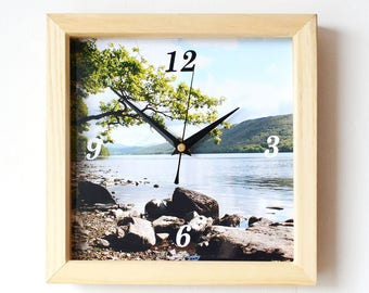 Lake Photo Clock - Photo Wall Clock - Landscape Photography - Coniston Water - Lake District Photography
