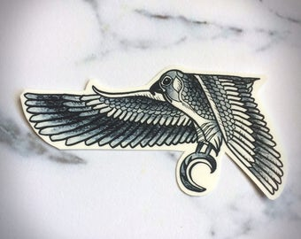 Egyptian Falcon fake temporary tattoo ankle foot celebrity bird eagle hawk wings faience intricate wings feathers