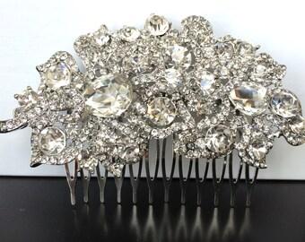 wedding hair comb, wedding comb, bridal comb, bridal hair comb, wedding hair accessories, vintage comb, crystal comb