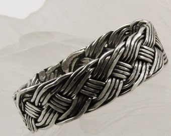 Handwoven Sterling Silver Ring, Braided Sterling Silver Ring, Silver Ring, Handmade woven Ring, Silver Ring
