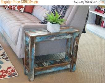 SALE Heavily Distressed Side Table; End Table, Entry Way Table