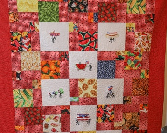 Picnic Quilt with ants