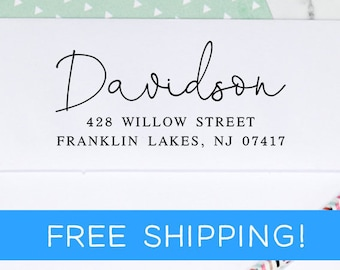 Return Address Stamp - Custom Address Stamp - Self Inking Address Stamp - Christmas Gift - Housewarming Gift  (D365)