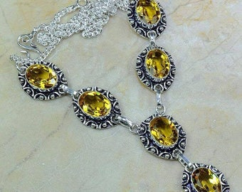 Yellow Citrine Necklace