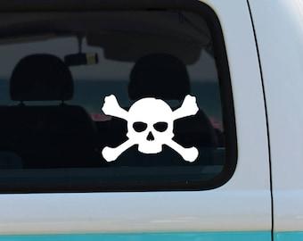 Skull Decal Skull Sticker Crossbones Skull head decal skull decal Skeleton sticker