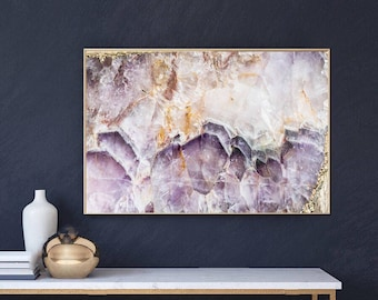 Mineral Photography - (Print #023)  Amethyst -  Fine Art Print - Two Paper Choices- Mineral Geode Agate Crystal Decor