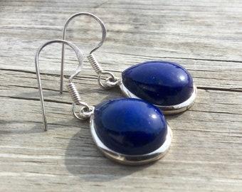 Beautiful, deep blue lapis set in silver
