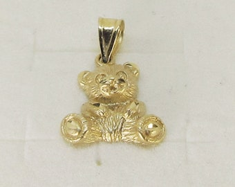 Teddy Bear Pendant 14Kt Gold