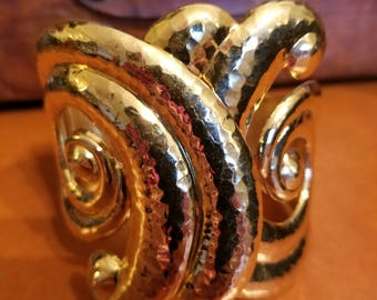 FREE  SHIPPING  Modernist  Abstract  Clamp  Bracelet