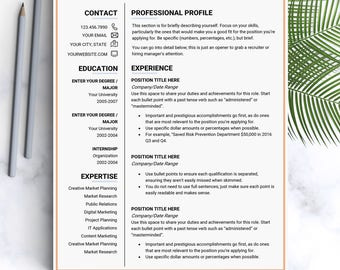 Creative resume template Instant download US letter resume templates resumes cv design Resume template for resume Resume modern template it