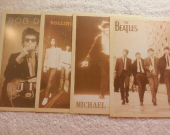 RETRO Male Musicians Post Cards. Free Shipping!