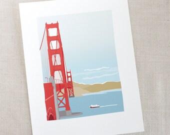 Golden Gate Bridge Print / Art Print / San Francisco Art / Wall Decor