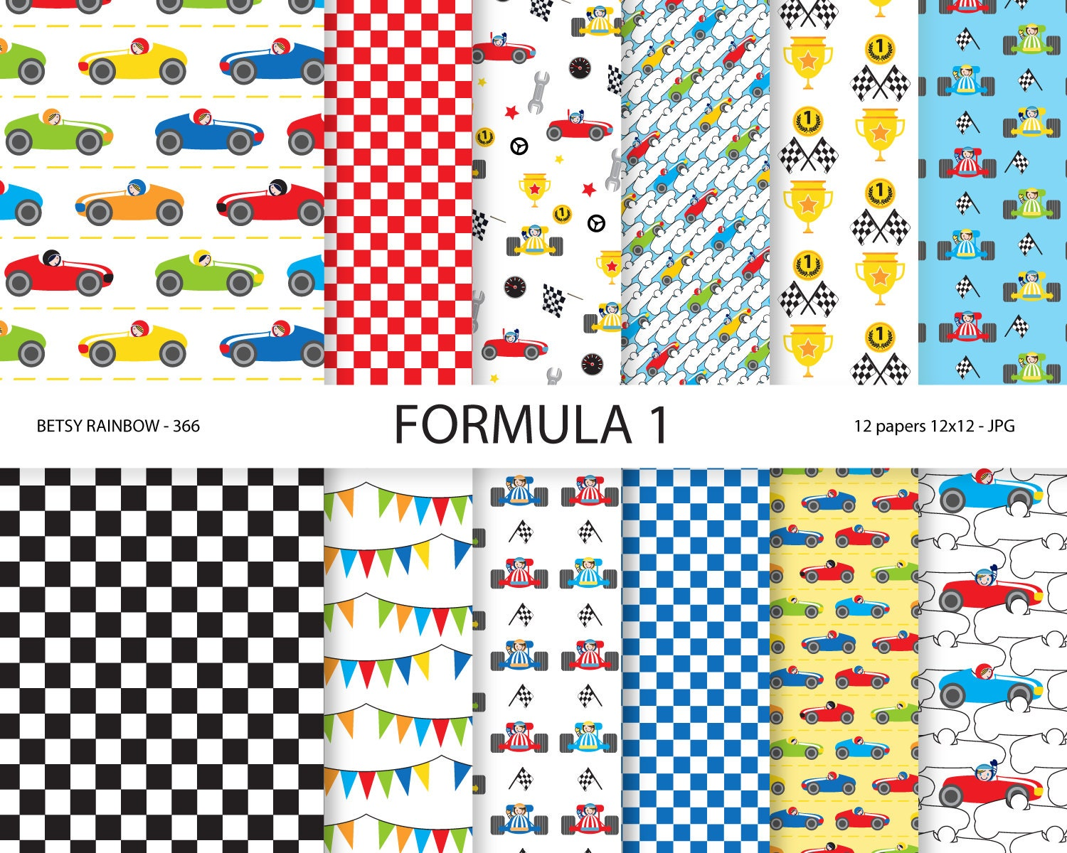 Formula 1 digital paper pack digital papers racing boy zoom malvernweather Image collections