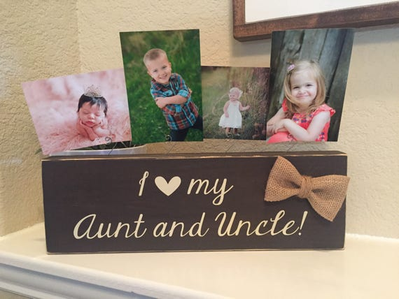 Aunt & Uncle Gift I Love My Aunt Uncle Picture Frame