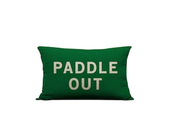 12x20in Paddle Out Green Pillow Cover
